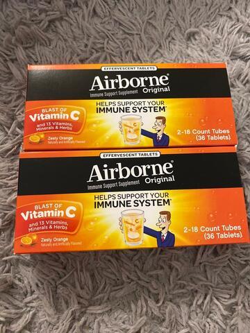 Airborne Original Vitamin C (36 Tablets) Var. Zesty Orange