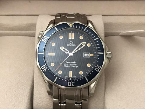 ORIGINAL OMEGA SEAMASTER PRO BOND 300M QUARTZ BLUE WAVE 41.5 MM