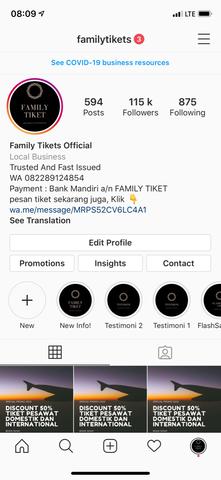 jual akun instagram 115K Followers (cocok untuk bisnis)