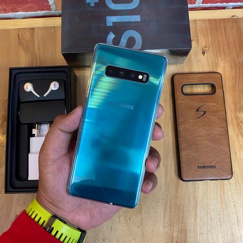 Samsung S10 Plus 128GB Prism Green Fullset Original SEIN