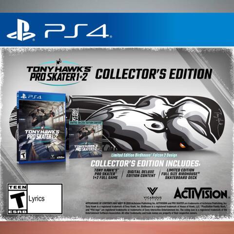 PO Ready Import - Tony Hawk's Pro Skater 1+2 Collector's Edition (PS4)