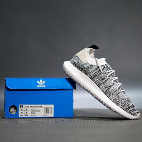 Sepatu Sneakers Adidas tubular shadow primeknit grey original