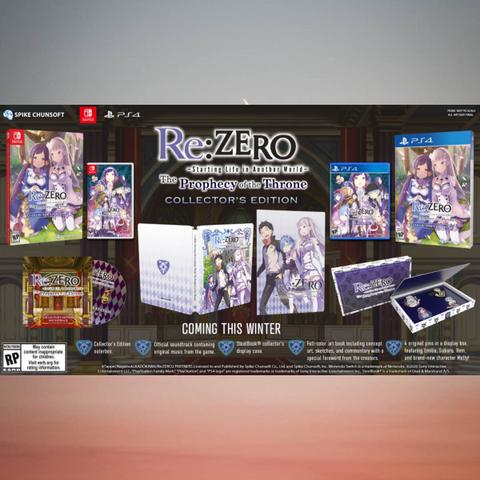 Preorder (DP) - Re:Zero The Prophecy of The Throne Collectors (Switch)