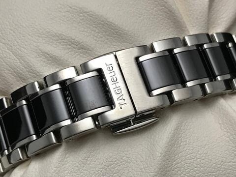 ORIGINAL TAG HEUER LADIES F1 QUARTZ BLACK CERAMIC DIAMONDS 32MM