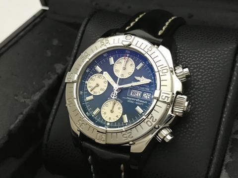 ORIGINAL BREITLING SUPEROCEAN AUTOMATIC CHRONOGRAPH DAY DATE 42MM