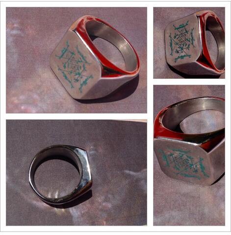 Cincin Titanium Pria Rajah Penglaris Kekayaan Wafaq Jawa