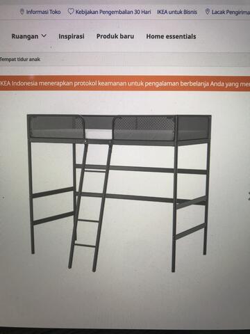 IKEA Tuffing, rangka tempat tidur anak tingkat