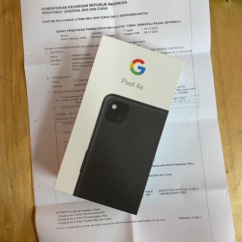 Google Pixel 4a 6/128GB Black BNIB Sealed Tax Paid customs Singapore SET