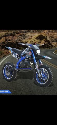 motor mini cross trail mt2 lampu 50cc 2 tak matic
