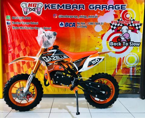 motor mini cross trail 50cc 2 tak matic gazelle