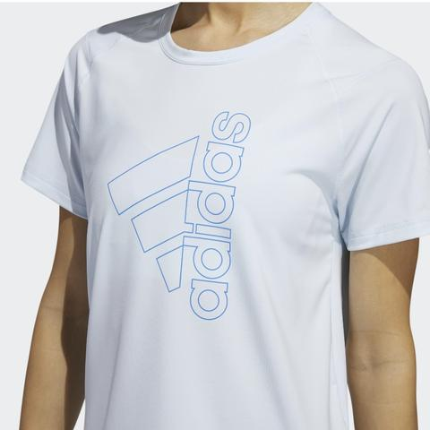 Adidas Badge of Sport Tee Blue Women 100% Original F