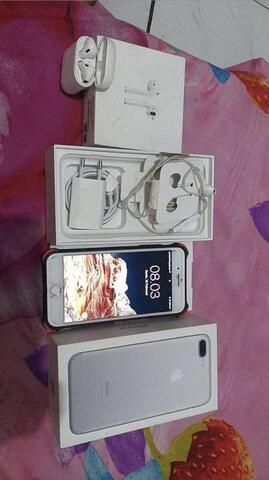 iphone 7 plus 128 free airpoods full set