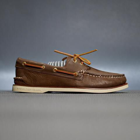 sepatu sperry top sider ao 2 eye goldcup gold brown original murmer