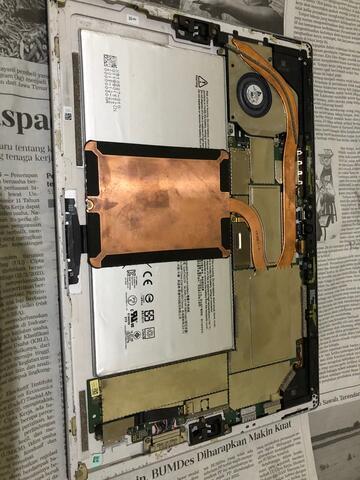 laptop tablet microsoft surface pro4 core i5 gen6 ram 8gb tanpa lcd dan ssd