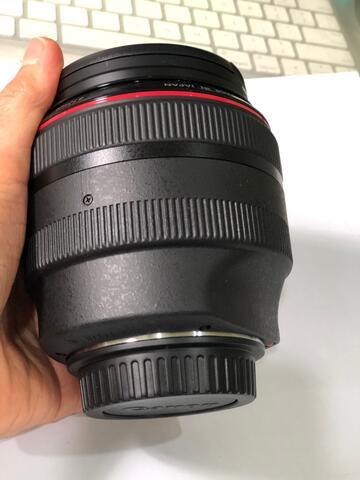 Lensa Canon L 85 f1,2. Mulus