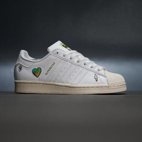 sepatu sneakers adidas superstar leather white original limited