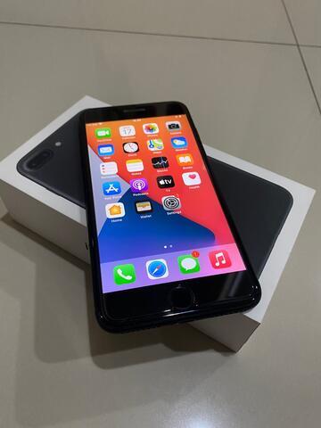 Iphone 7 Plus 128 GB Black Matte Ex Inter Kondisi Mulus !!