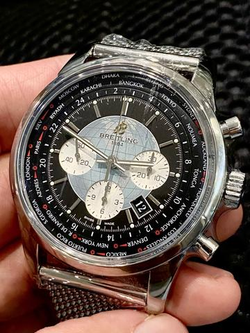 ORIGINAL BREITLING TRANSOCEAN UNITIME AUTOMATIC CHRONOGRAPH 46MM