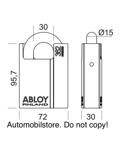 Gembok ABLOY PL 362 T (Protec2), Made in Finland