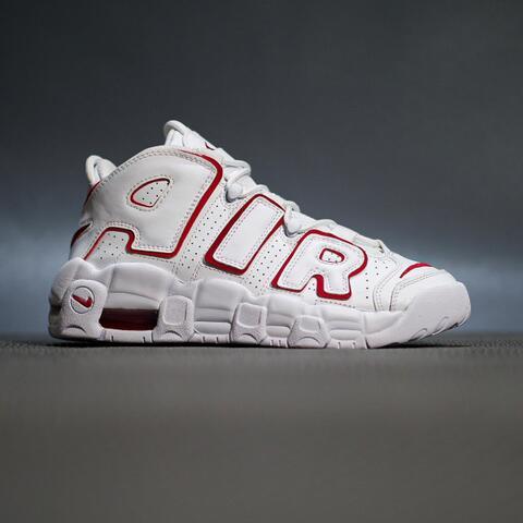 LEGIT! sepatu sneakers nike more air uptempo gs white varsity red original