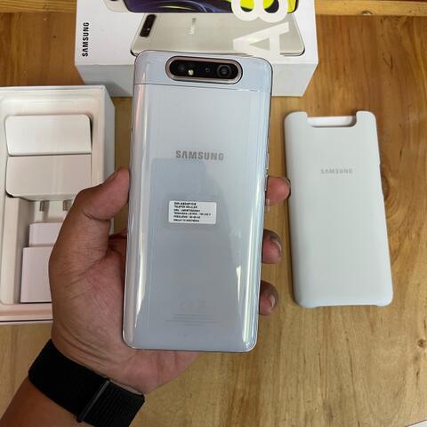 Samsung Galaxy A80 White Super Mulus Perfect Resmi SEIN fullset Original