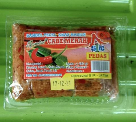 Sambel Pecel Madiun Merk Cabe Merah 250 gram