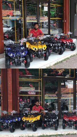 mini atv hunter 50cc 2tak matic mesin rumput mini motor