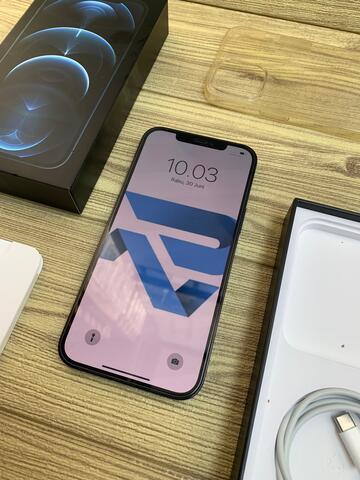 iphone 12 pro max 128gb pasific blue IBOX sebulan pakai Bisa COD dan TT