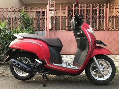 "Honda Scoopy R 12 Ban Donat Th""2019 B.Dki Mtr Spt Baru Mesin Halus"