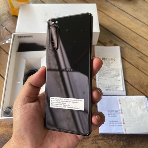 Sony xperia 5 ii xperia 5 mark 2 Black Global dual sim Super Mulus Fullset original