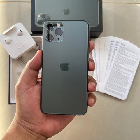 iPhone 11 Pro 256GB Dual Nano sim Midnight Green Super Mulus fullset ZA/A