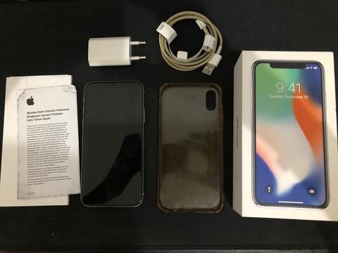 Iphone X silver 64gb silver ex-ibox