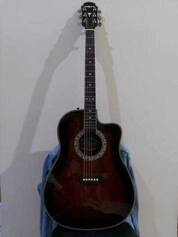 gitar akustik elektrik aria vintage