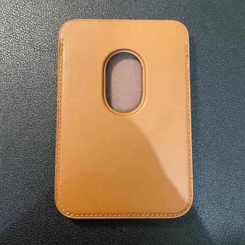 APPLE Leather Wallet MagSafe Card Sleeve Original - Saddle Brown