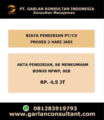 Konsultan Pendirian Perusahaan(PT/CV), Yayasan, Perizinan Berusaha Tangerang