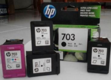[JUAL] Cartridge HP 703 Second/ kosong black and colour ORI