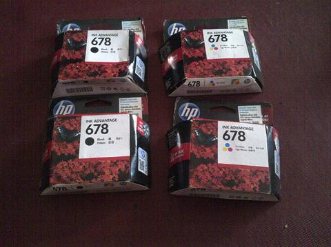 Tinta HP 678 black dan color