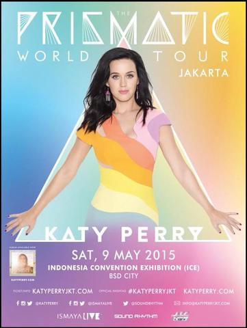 "JUAL TIKET KONSER KATY PERRY ""The Prismatic World Tour 2015"" MURAH & TERPERCAYA"