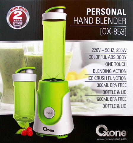 Personal hand blender oxone