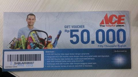 WTS JUAL Voucher Ace Hardware