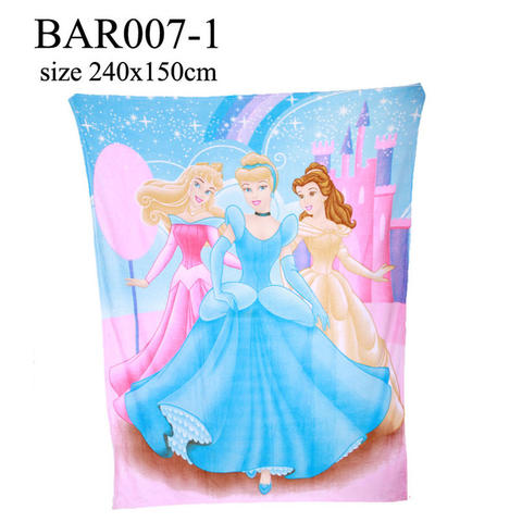 Selimut Princess Walt Disney, Cinderella, Belle dan Barbie
