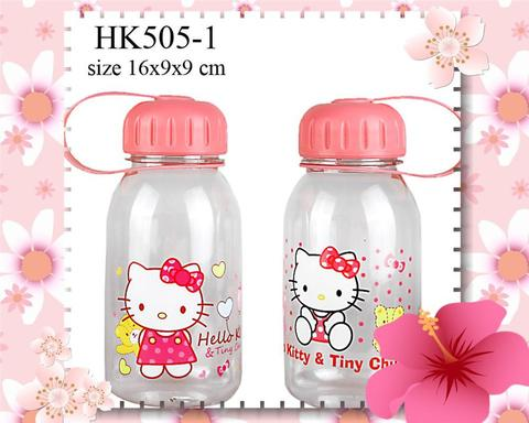 Botol minum aneka model, ukuran 500 ml, 600 ml , 650 ml, 750 ml motif Hello Kitty
