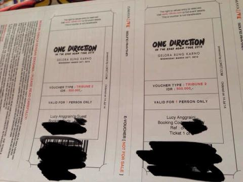tiket one direction maret 2015