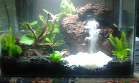 aquascape waterfall murah 40x20x25