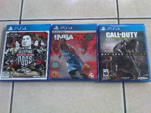 JUAL BD PS4 NBA 2K15, COD AW, SLEEPING DOGS, SHADOW OF MORDOR, UFC DAN RYSE MURAH