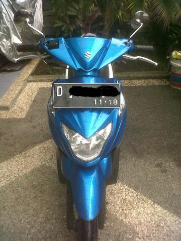 Suzuki NEX FI Biru Putih Mint Condition Th 2013. Bandung.