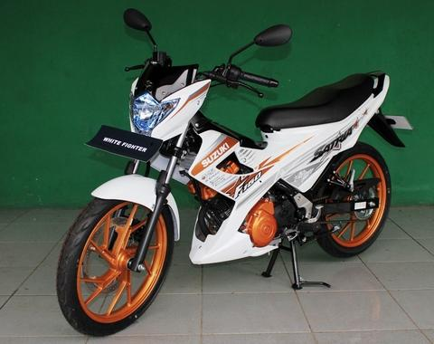 New Suzuki Satria F150 White Fighter 2015 { Promo Kredit }