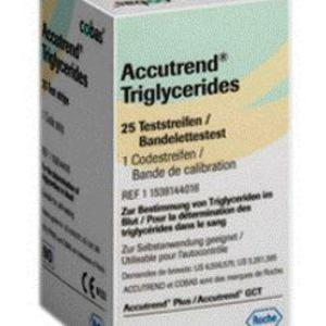 ACCUTREND PLUS - 25 TRIGLYCERIDES TEST STRIPS