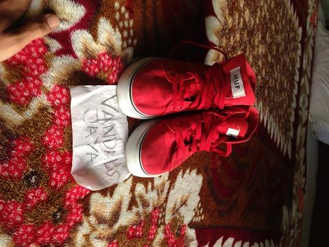 HUF SHOES RED HIGH