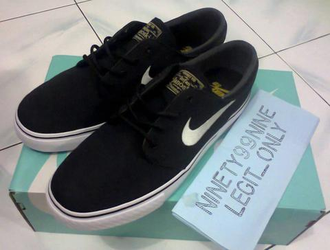 nike sb zoom stefan janoski black canvas original
